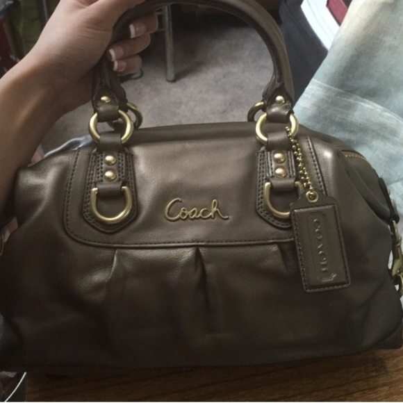 8cf0d27b6ee1 AUTHENTIC Coach Ashley Signature Satchel in Steel